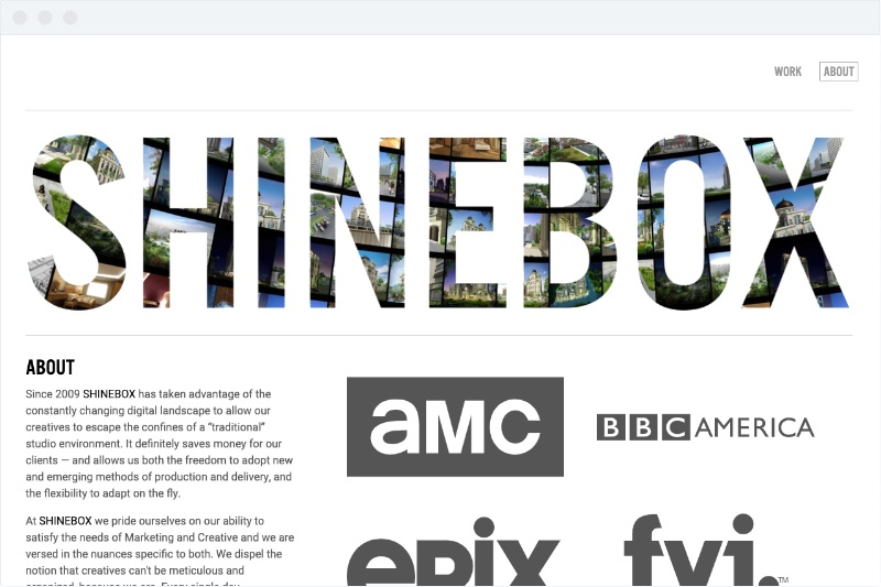 Shinebox 2019 - About Page