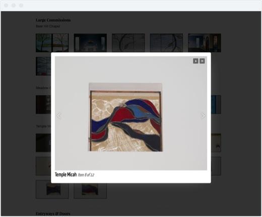 Aines - Portfolio Modal Pop