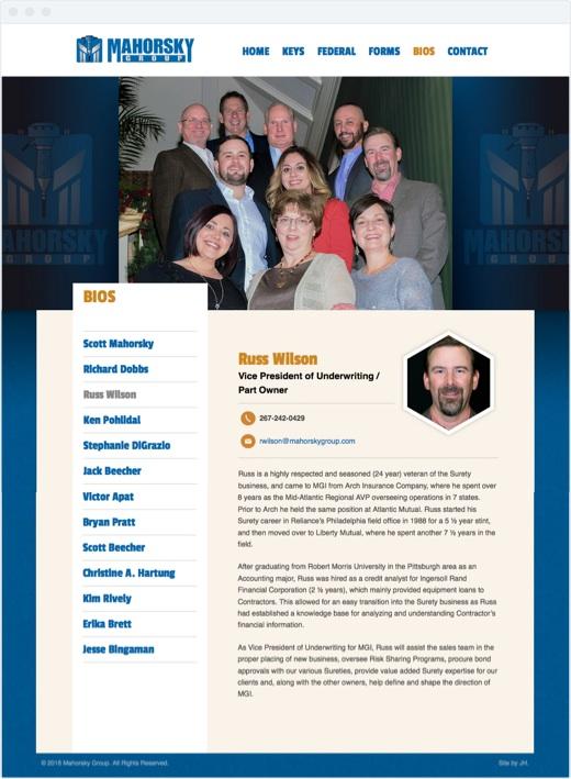 Mahorsky Group - Individual Bio