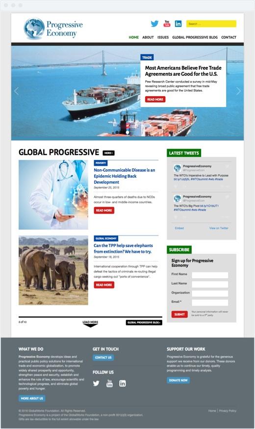 Progressive Economy - home page