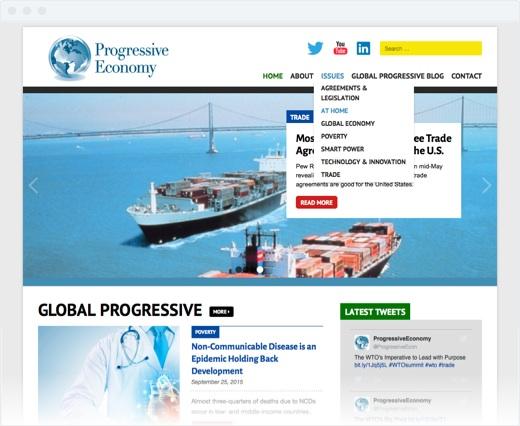 Progressive Economy - navigation