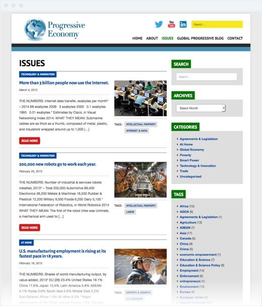 Progressive Economy - blog page