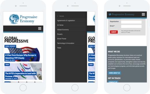 Progressive Economy - mobile